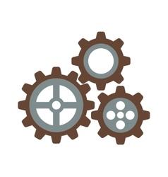 Cogwheel machinery and development gear icon vector image