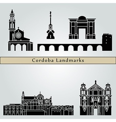 Cordoba landmarks and monuments vector image vector image