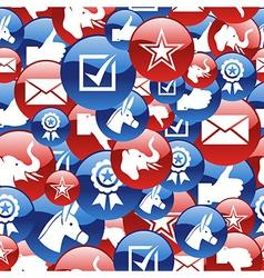 USA elections glossy pin badge icons pattern vector image vector image