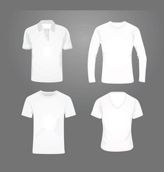 white t shirt set vector image vector image