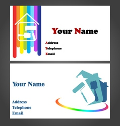 Business Card - Painter vector image vector image
