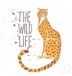 cheetah color vector image vector image