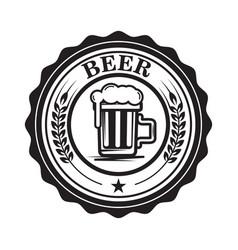 emblem with beer mug design element for logo vector image vector image