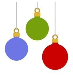Flat Style Christmas Balls on White Background vector image vector image