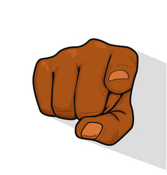 hand of man pointing index finger at you vector image