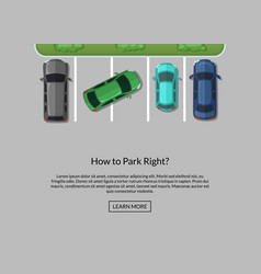 parking lot with cars top view vector image