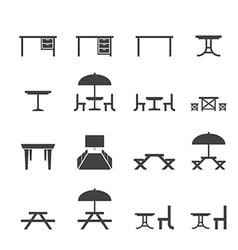 Table icon set vector