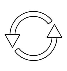 arrows around isolated icon design vector image