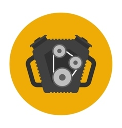Car engine flat icon vector image
