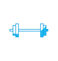 Dumbbell weight isolated vector