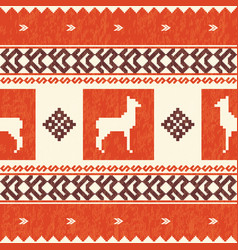 ethnic textile pattern with lamas vector image vector image