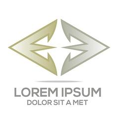letter line av symbol element logo template vector image
