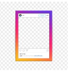 modern social network photo frame vector image vector image