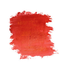 red painted banner vector image