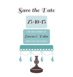 Wedding Cake Invitation - Save the Date vector image vector image