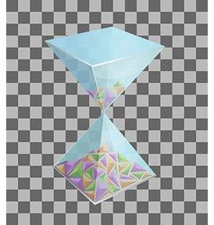 3D hourglass design vector image