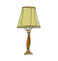 A lampstand is placed vector