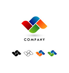 Abstract colorful shape logo sign symbol icon vector