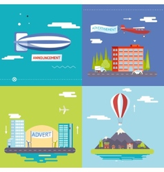 Advertisement commercial promotion poster symbols vector
