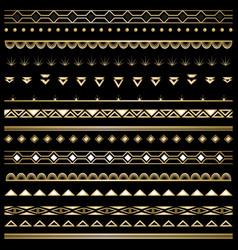 art deco set of borders vector image