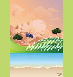 Australian war graves vector
