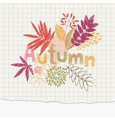 Autumn notepaper vector