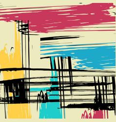 beautiful abstract gentle graffiti pattern vector image
