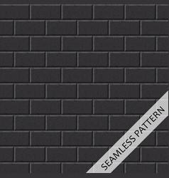black brick wall vector image