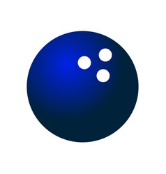bowling ball icon vector image