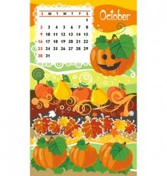 Calendar october vector