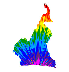 Cameroon - map is designed rainbow abstract vector