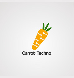 carrot techno logo icon element and template for vector image
