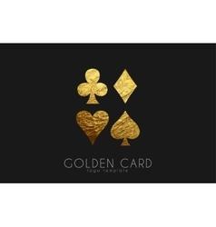 Casino logo card logo golden card symbols vector
