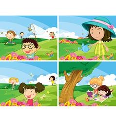 Children outdoor vector image