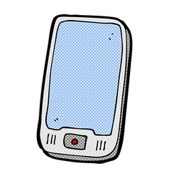 Comic cartoon computer tablet vector