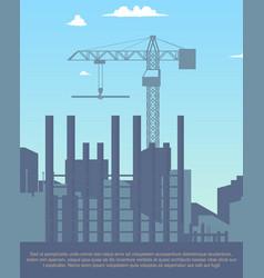 concept modern city construction buildings vector image