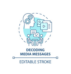 decoding media messages concept icon vector image