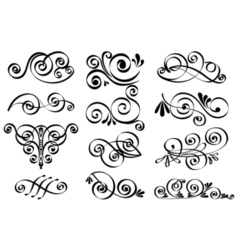Decorative design elements Calligraphic elements vector