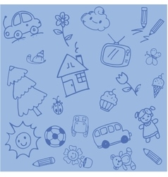 Design doodle art for kids vector image