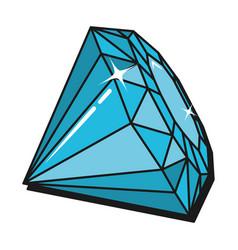 diamond luxury cartoon vector image