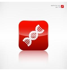 dna iconmedical symbol vector image