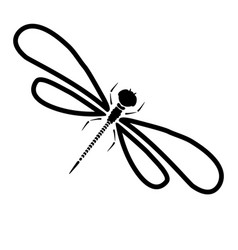 dragon-fly silhouette cartoon graphic vector image