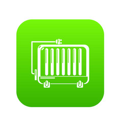 electric battery icon green vector image