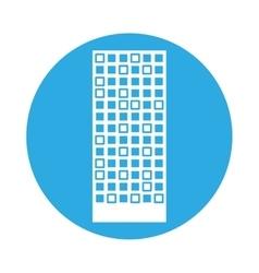 emblem building line sticker image vector image