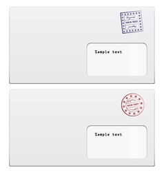 envelopes with a stamp vector image