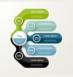 Five elements banner 5 steps design chart vector