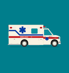 flat ambulance car isolated vector image