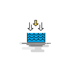 Flat water evaporation icon vector