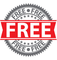 free sign free badge vector image