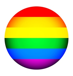 Gay flag button vector image